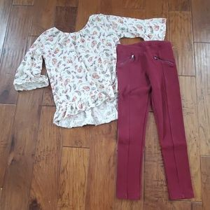 Old Navy leggings and tunic GUC